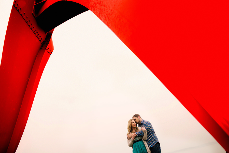 Engagement photos at Olympic Sculpture Park in Seattle by wedding photographers, Daniel and Lindsay Stark of Stark Photography. (6)