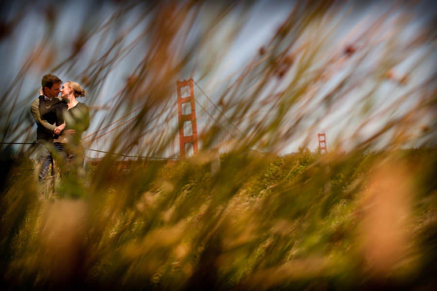Engagement photography with the Golden Gate Bridge in San Francisco by Portland Wedding Photographer Daniel Stark Photography