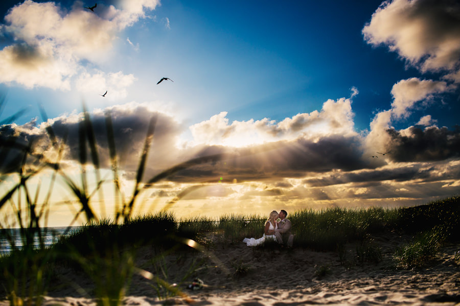 A beautiful beach wedding on Cannon Beach on the Oregon Coast photographed by Daniel Stark and Lindsay Stark. (1)