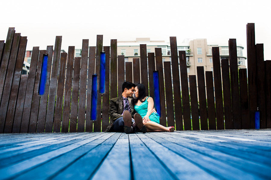 Tanner Springs Park Engagement photo shoot by Portland wedding photographers, Daniel Stark Photography. (2)