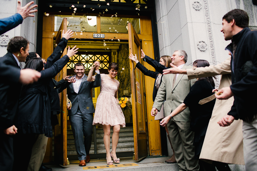 Bride and groom's wedding at the Nines Hotel in downtown Portland by Daniel Stark Photography (9)