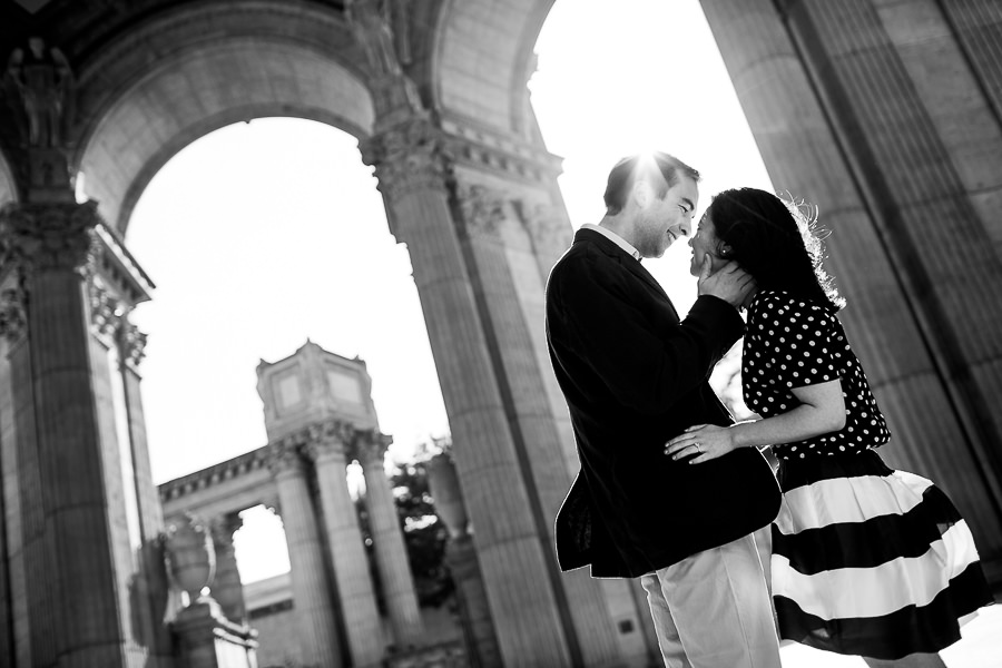 Palace of Fine Arts Wedding, San Francisco Engagement Photos.  (9)