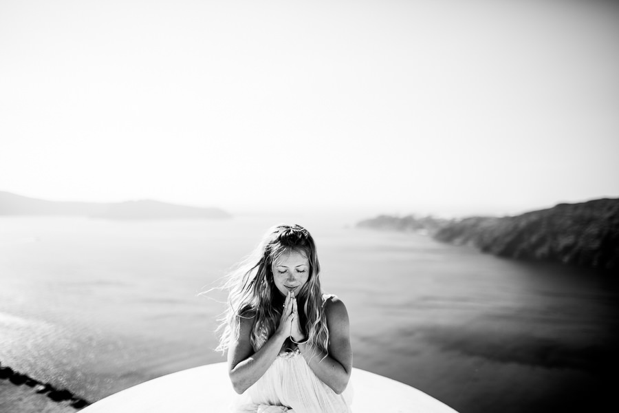 Kathryn Budig Santorini, Greece Yoga Photography (4)