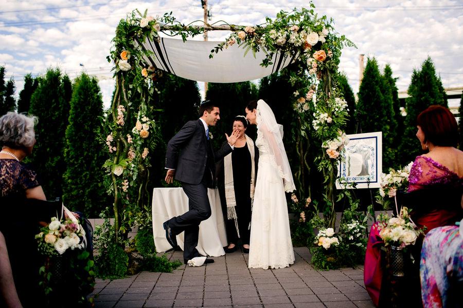Jewish Wedding breaking of the glass.
