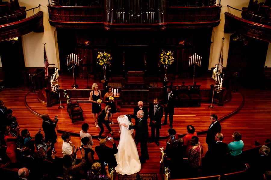 First Presbyterian church wedding and a wedding reception at Castaway in Portland. (25)