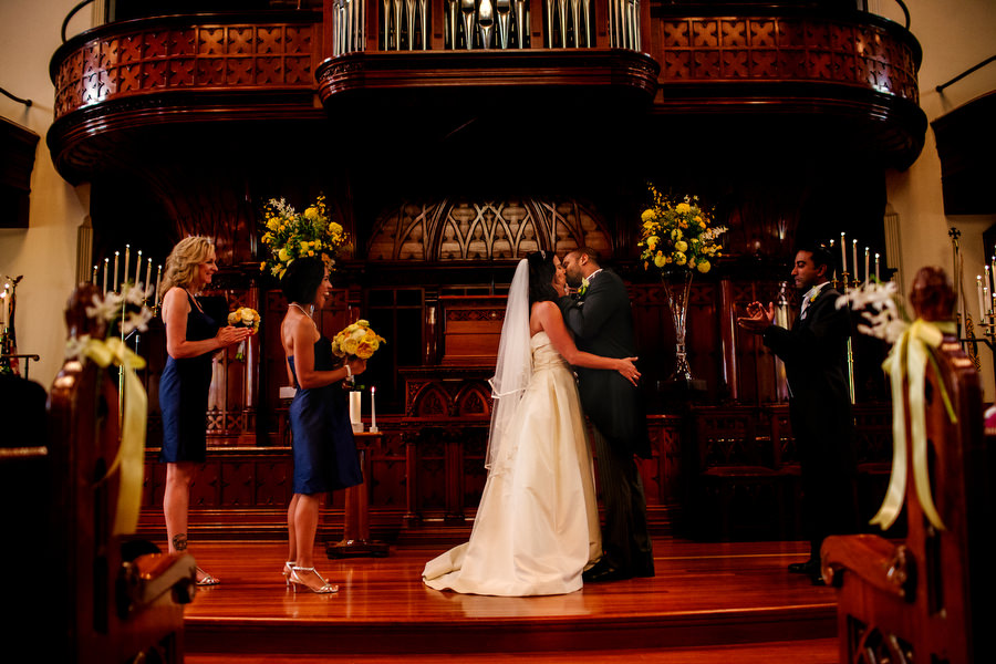 First Presbyterian church wedding and a wedding reception at Castaway in Portland. (18)