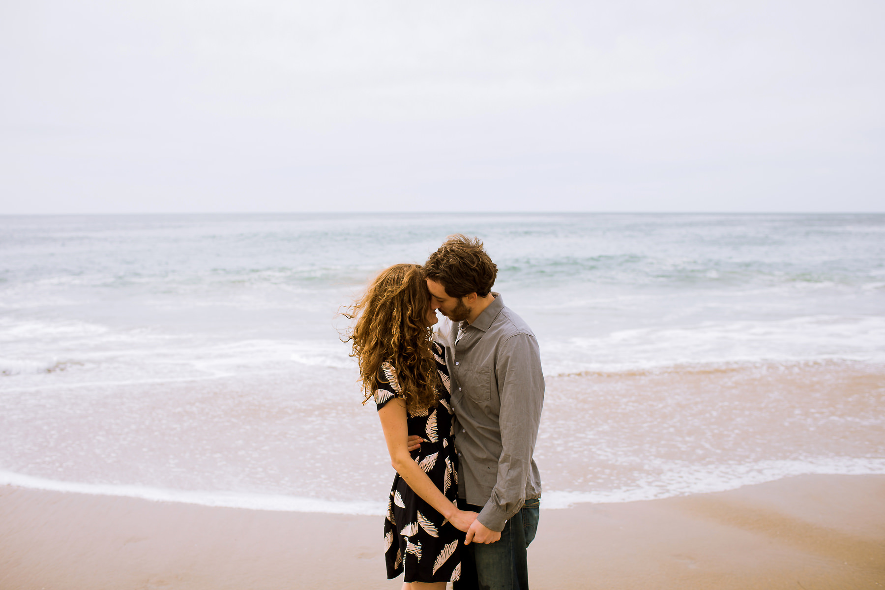 Santa Cruz engagement session at Natural Bridges State Park with an beautiful wedding couple