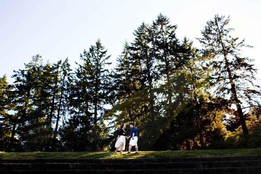 Rose Garden Engagement Session Portland (6)