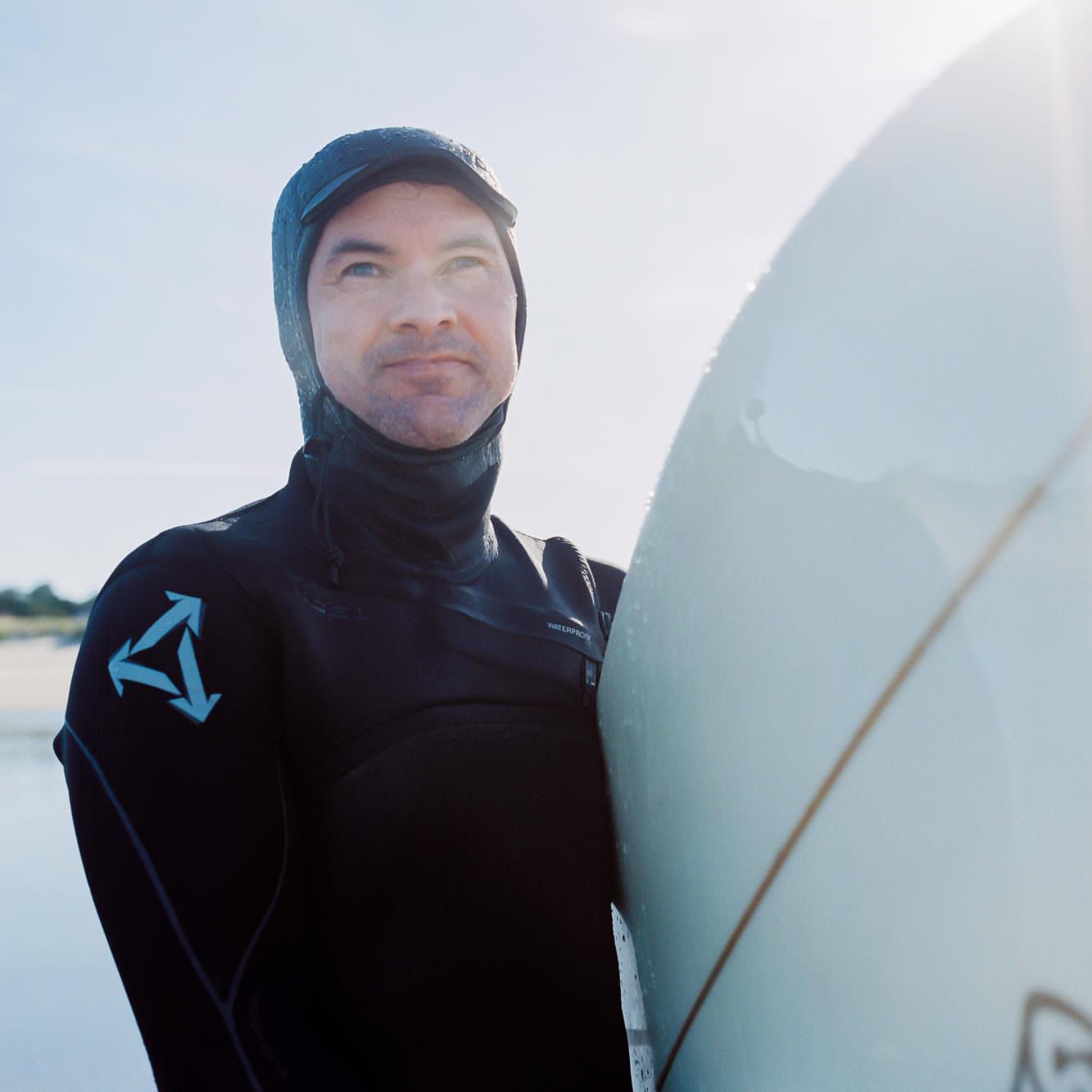 Surfing Oregon Coast at Cannon Beach Haystack Rock
