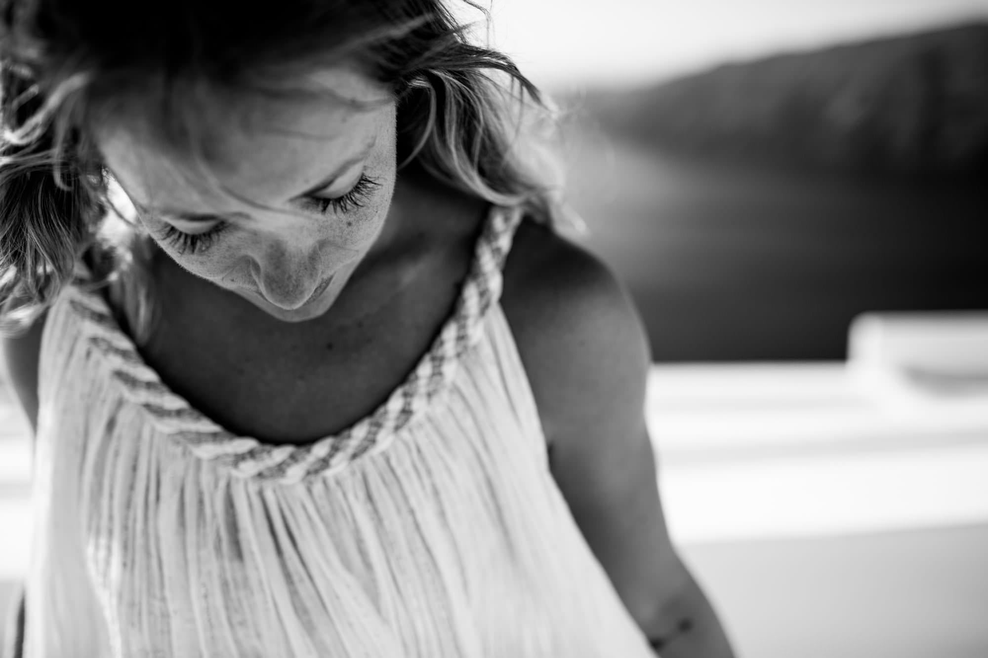 Kathryn Budig in Hotel Rocabella in Santorini, Greece