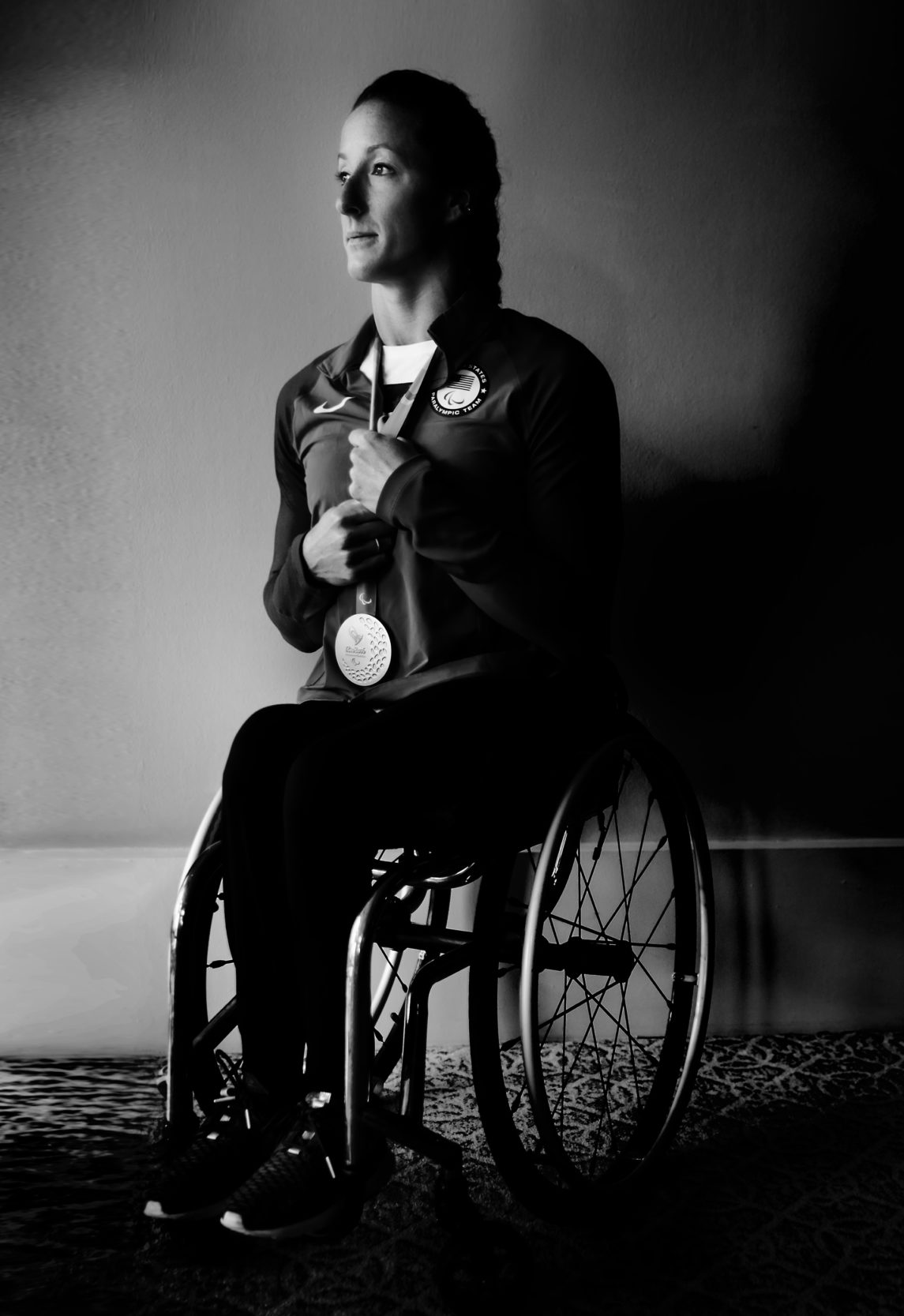 Tatyana McFadden. A 17x Paralympic medalist (7 gold), 14x world champion, 14x marathon winner