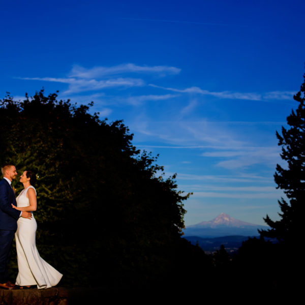 A low light and romantic vibe wedding on the top of Council Crest and Elder Hall Wedding in Portland, Oregon by Stark Photography.