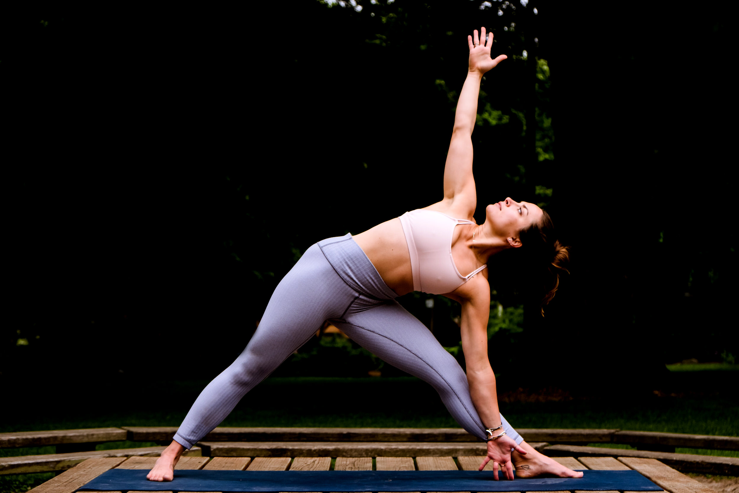 Wedding Day Yoga Poses: How to do Side Stretch. Wedding Day Yoga Poses are a series of yoga poses to help calm your nerves, center yourself and open your heart.