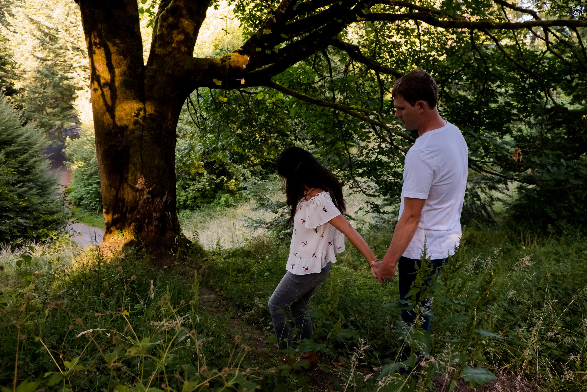 hoyt arboretum portland engagement shoot photos 003