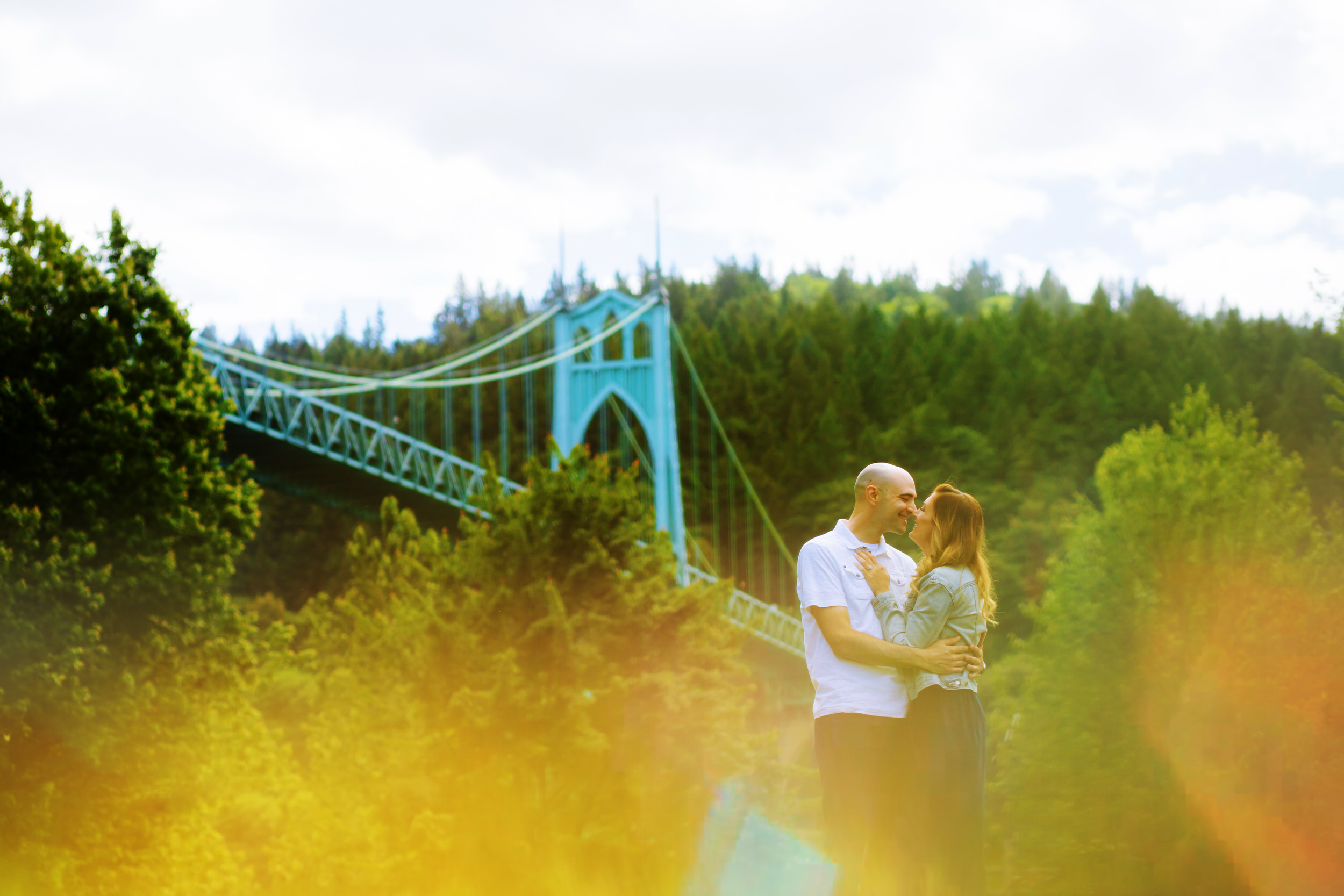Cathedral Park St John's Bridge Engagement Shoot