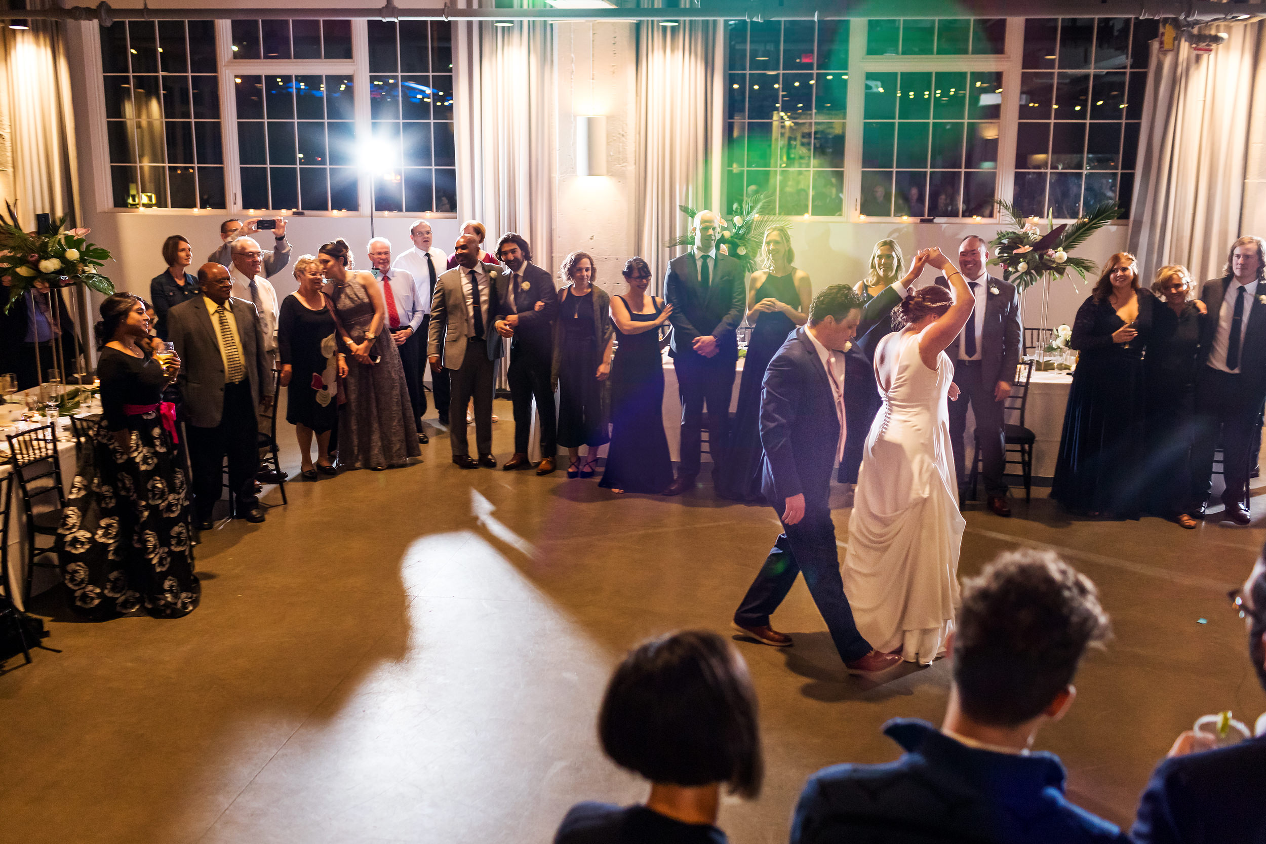 Eastside Exchange Ballroom Portland Hawaiian Theme Wedding 023